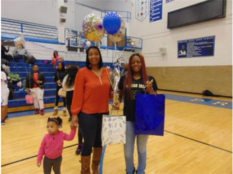 Senior Night 2018 Kiara Tarver and Family