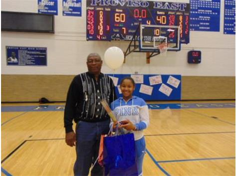 Senior Night 2018 Diasa Talmadge and Dad