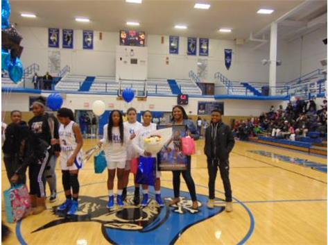 Senior Night 2018 Daddrianna Gibson and Family