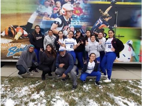 Lady Pirates day out at the Chicago Bandits Stadium.