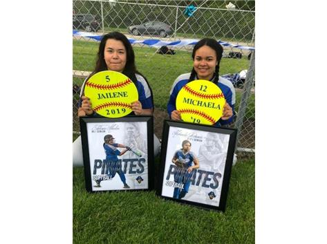 Jailene and Michaela on Senior Day