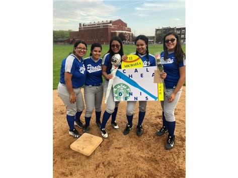 Michaela and teammates Karla, Priscilla, Julissa and Crystal