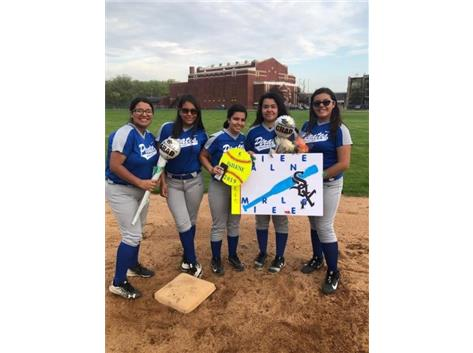 Jailene and teammates Karla, Julissa, Priscilla and Crystal
