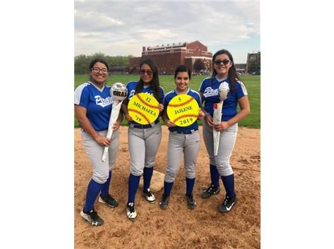 Berumen, Meraz, Pena, and Barraza at Second base on Senior Day