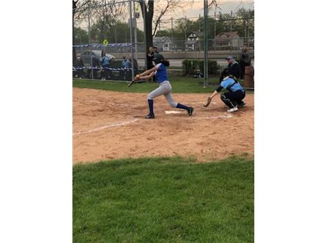 Haley Duran at bat