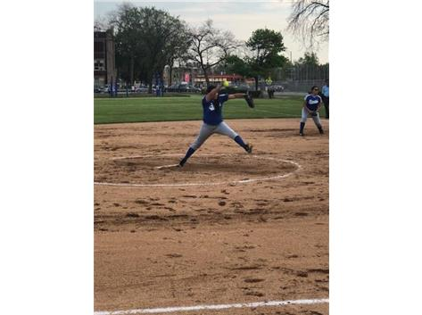 Jailene Mireles on the mound