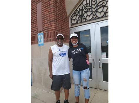 Graduate Jordan Brown and Coach P May 27, 2021