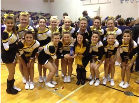 The RCHS Cheerleaders received 1st Place at the Wilmington Spiritline Invitational on November 24, 2013.