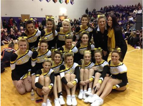 The girls pose for a picture at the Wilmington Spiritline Invitational.