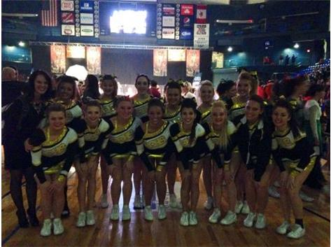 The RCHS Cheer Squad placed 10th in the IHSA Competitive Cheerleading Finals earning a place in the Top 10 teams for the second year in a row!