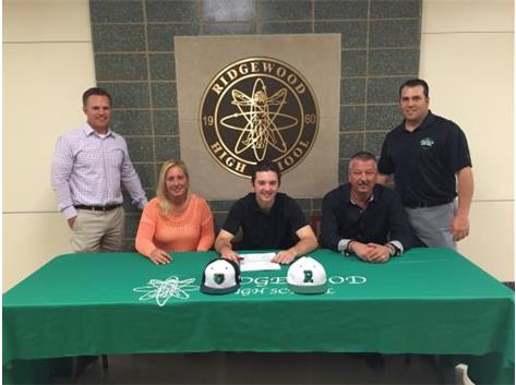 Gianfranco Sorrentino signs his letter of intent to play baseball at the University of Wisconsin Parkside.