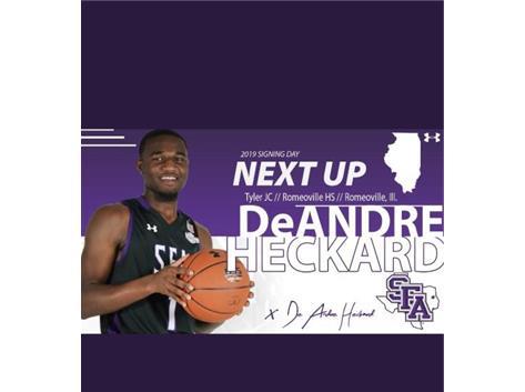 DeAndre Heckard  NLI Signing Stephen F Austin University