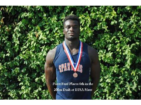 Perez Ford Places sixth in the IHSA State Track Meet.