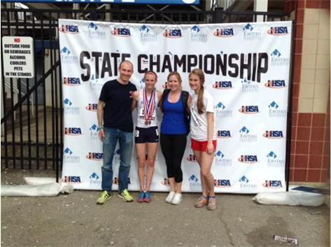 Meghan Carroll, 2014 2A Track and Field Finals. All State in 3200m (6th, 11:06), 800m (9th, 2:19), and 1600m (3rd, 5:06)
