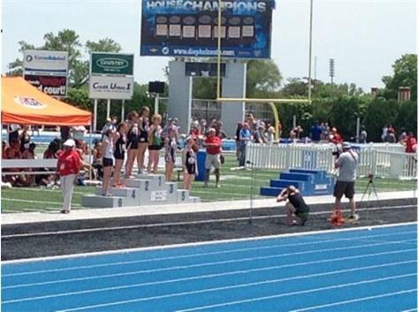 Meghan Carroll, 6th place, 3200m Class 2A