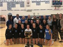 Congratulations to the North Star Girls Volleyball team on winning the IHSA Regional Championship