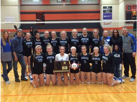 Congratulations to the North Star Girls Volleyball team on winning the DeKalb Sectional Championship.  Way to go NORTH STARS!