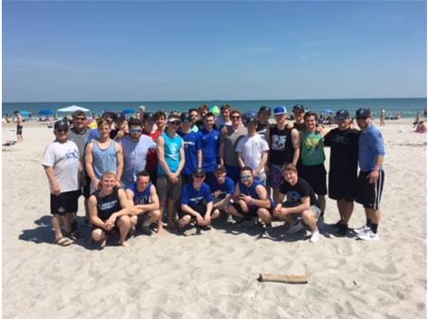 North Star Baseball enjoying the beach in sunny Florida on their 2018 Spring Break Trip