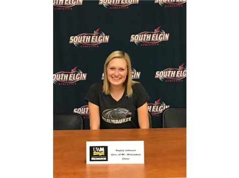 Hayley Johnson signs with Univ of WI Milwaukee.  Congratulations Hayley!!