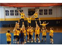 Full team workings on a pyramid at home camp