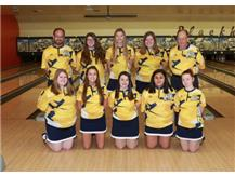 2018 Girls Bowling Team 1st Row (L-R): Grace Schultz, Olivia Zinanni, Zoey Paone, Maricela Tabares, Alexsandra Grobe 2nd Row (L-R): Coach TJ Paone, Kylie Bresley, Lindsey Johnson, Kyleigh Glazier, Head Coach Loren Wolf