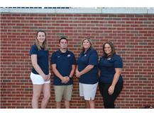 2019 Volleyball Coaching Staff (L-R): Asst Coach Morgan Johnson, Varsity Head Coach Dale Dykeman, Asst Coach Barb Wolf-Cotes, Freshman Head Coach Stephanie Gibson