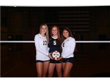 2019 Volleyball Captains (L-R): Bree Borum, Grace Gould, Lexi Rodriguez