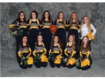 2019-20 Basketball Poms Front Row (L-R): Marisa Salmon, Aliya Gutierrez, Alice Sotelo, Sydnee Thueson, Kaydence Larson 2nd Row (L-R): Ohnaka Garcia, Josie Cady, Makayla Wolfe, Victoria Stutzke, Sara Hafner, Carley Malmberg