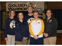 2019-20 Girls Basketball Coaching Staff (L-R): Brenda Gould, Mary George, Geoff Wing, Kiley Johnson, Taylor Jackson
