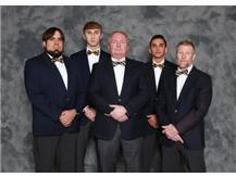 2019-20 Wrestling Coaching Staff (L-R): Asst Coach Dion Garcia, Asst Coach Turner Garcia, Head Coach Kevin Heller, Asst Coach Jordan Cater, Asst Coach Larry Balsley
