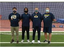 2020-21 Boys Soccer Coaches (L-R): Asst Coach Lou Sotelo, Asst Coach Chris Interone, Head Coach Brian Cebula, Asst Coach Scott Gearing