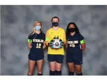 2020-21 Varsity Girls Soccer Captains (L-R): Ellie Gasso, Jessica White, Katherine Herrera