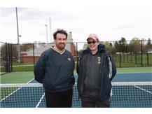2020-21 Boys Tennis Captains (L-R): Asst Coach Alex Segneri & Head Coach Mike Gottemoller