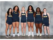 2021 Girls Track Seniors (L-R): Madysen Balsley, Jaden Vicks, Sofia Rumbolz, Kierra Collins, Shakirah Mussington, Elizabeth Lindquist