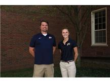 2021-22 Boys Cross Country Coaches (L-R): Head Coach Greg Hendrix & Asst Coach Megan Barnhart