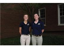 2021-22 Girls Cross Country Coaches (L-R): Asst Coach Megan Barnhart & Head Coach Megan Grady
