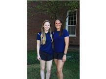 2021-22 Girls Swimming & Diving Coaches (L-R): Head Coach Jordan Johnson & Asst Coach Karina Austin