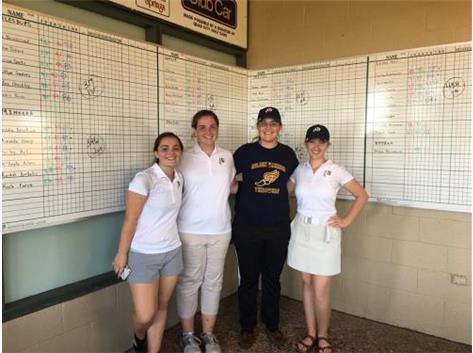 Girls Golf Sectional qualifiers Abby Sheets, Emma Boze, Jessica Rahn, Rachel Spencer!