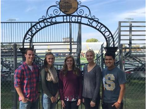 September Scholastic Achievement Honorees (l-r): Turner Morse, Megan Barnhart (Students of the Month), Kinsey Zacharski (ScholarPerformer of the Month), Maggie McPherson, Tony Diaz (Scholar Athletes of the Month)