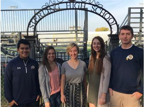 October Scholastic Achievement Honorees (l-r): Tony Diaz, Kallie Zuidema (Students of the Month), Rachel Spencer (ScholarPerformer of the Month), Tobi Garcia, Trevor King (Scholar