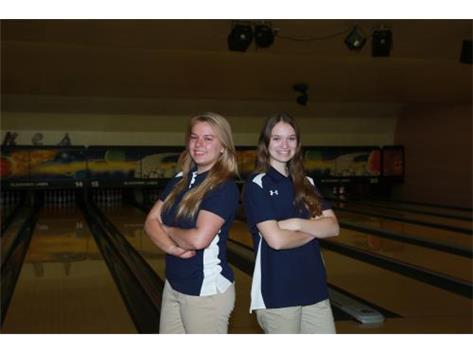 Senior Captain; Hannah Stout-left Junior Captain; Rhiannon Filippi-right