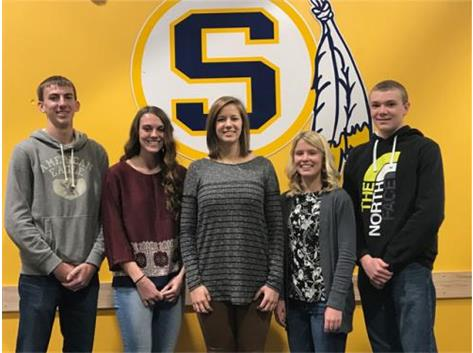 November Scholastic Achievement Honorees (l-r): Ryan Blackburn, Miranda Williams (Scholar Athletes of the Month), Abigail Gunderson 