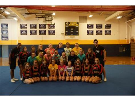 NIU Cheerleaders hosted a stunt camp for the SHS Cheerleaders