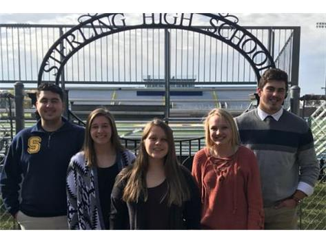 October Scholastic Achievement Honorees (l-r): Students of the Month: Logan Rocha & Katelyn Smoot; Scholar Performer of the Month: Maya Reter; Scholar Athletes of the Month: Cara Alexander & Tyler Willman