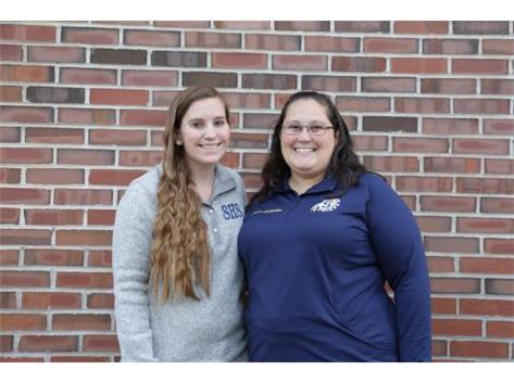 2017-18 Coaches: (L-R) Megan Davis and Sarah Gabrielse