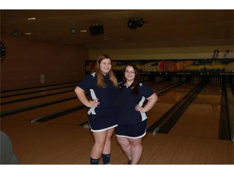 2017-18 Girls Bowling Captains (L-R): Kyleigh Glazier and Jocie Willett