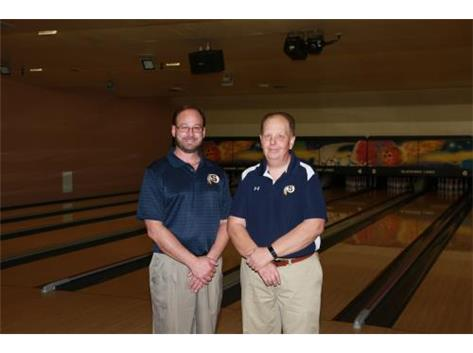 2017-18 Girls Bowling Coaches (L-R): TJ Paone and Loren Wolf
