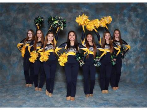 2017-18 Basketball Poms Competition Team Shelly, Saathoff, Diana Dillon, Nicole Dejonge, Jazlynn Moreno, Sonrisa Mia Coronado, Briana Love, Sarah Hafner