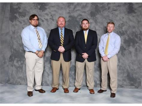 Wrestling Coaches: (L-R): Asst. Coaches Dion Garcia, Kevin Heller, Head Coach Jeff Gale, Asst. Coach Larry Balsley