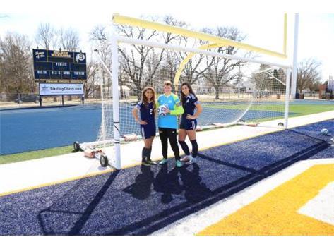 2018 Varsity Girl's Soccer Team Captains (L-R): Sierra Sotelo, Holli Drew, Chloe Halverson